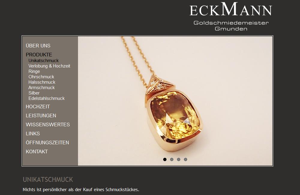 Website Goldschmiedemeister Eckmann