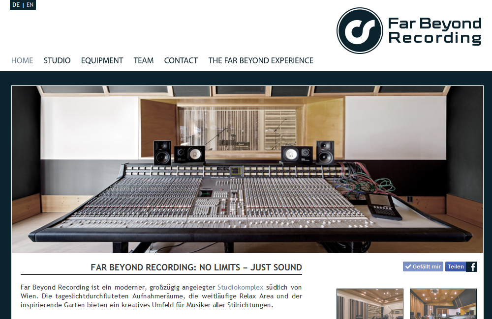 Website Far Beyond Recording