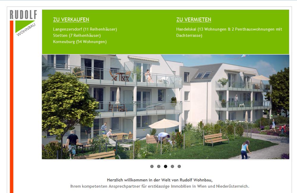 Website Rudolf Wohnbau