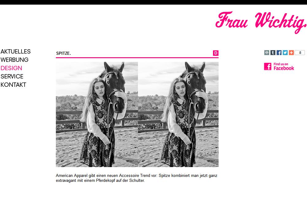 Website Frau Wichtig.