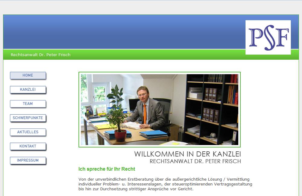 Website Rechtsanwalt Dr. Frisch
