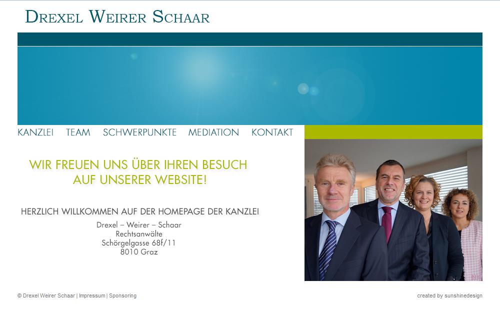 Website Drexel Weirer Schaar Rechtsanwälte