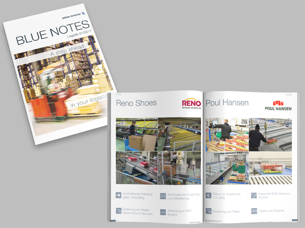 Blue Notes Logistikausgabe 01/2017 für BÖWE SYSTEC