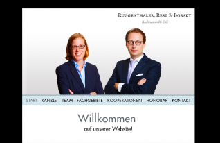 Website Ruggenthaler, Rest & Borsky