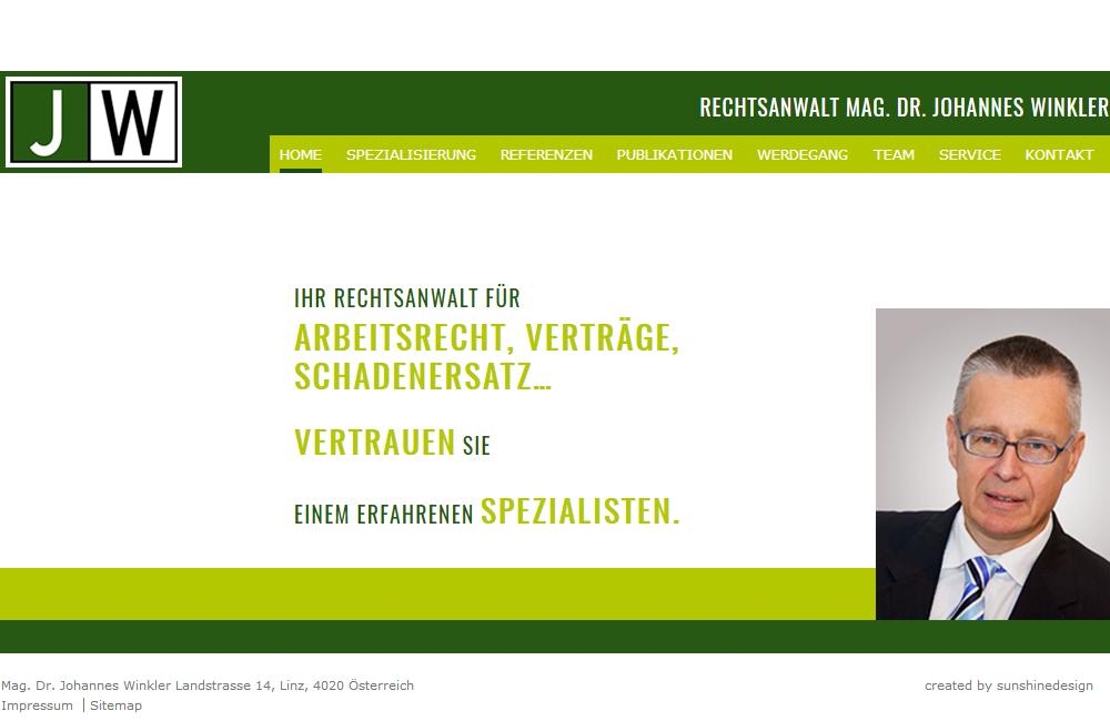 Neuprogrammierung Website Rechtsanwalt Dr. Winkler